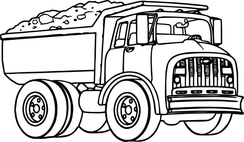 Dump Truck Transport Coloring Page Truck Coloring Pages Coloring Pages Baseball Coloring Pages