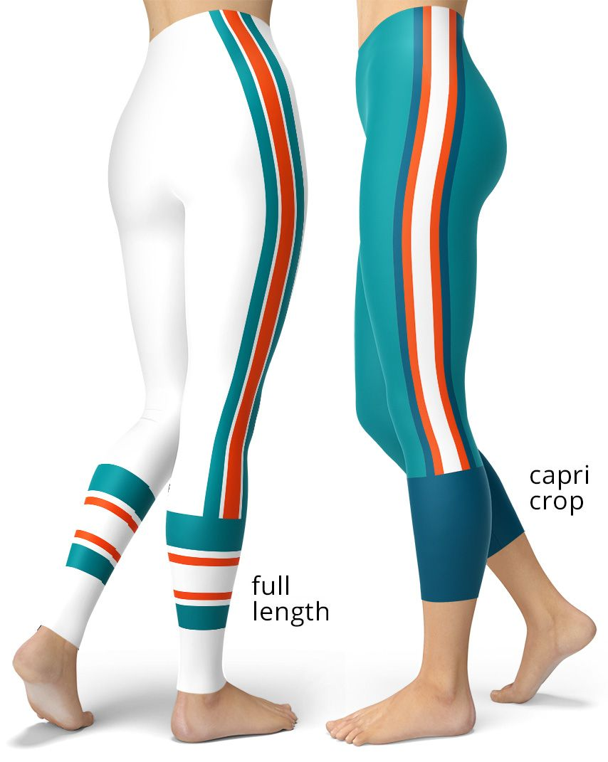 0d94a390 Miami Dolphins Sports Leggings in 2019 | Sports Leggings & Sports ...