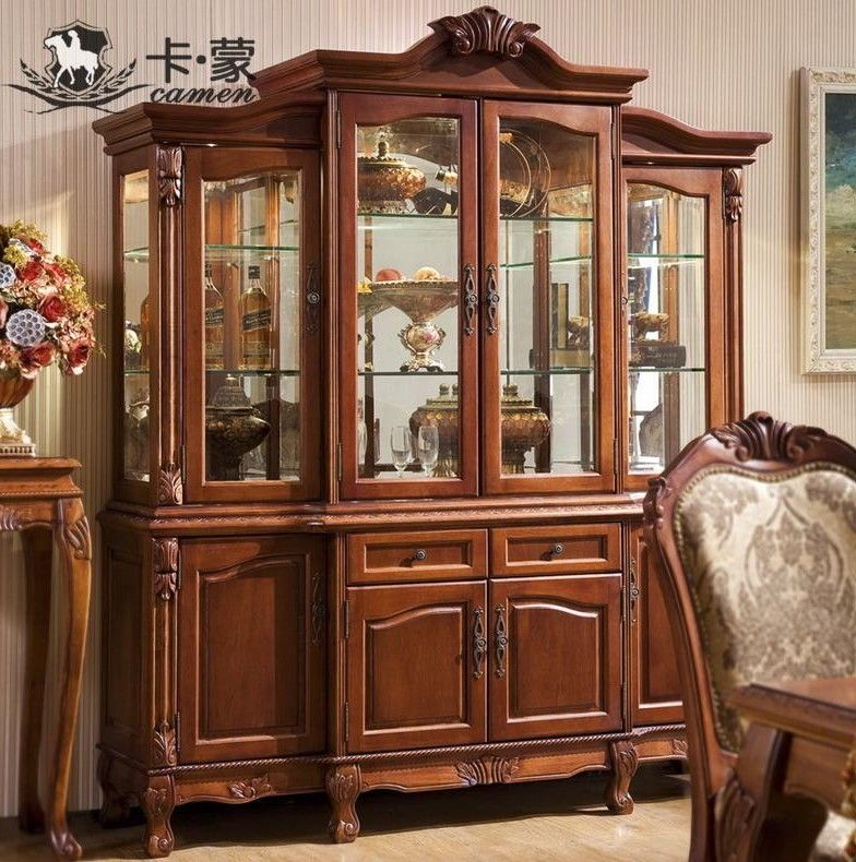 Dining Rooms Furniture Design Wooden Crockery Cabinet Crockery