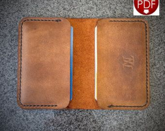 PDF Leathercraft Pattern For A Single Piece Leather Minimalist - Leather wallet template