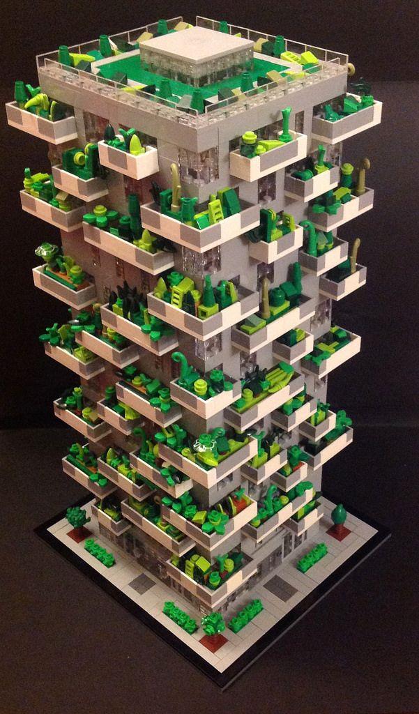 LEGO Bosco Verticale Side View Micro lego, Amazing lego