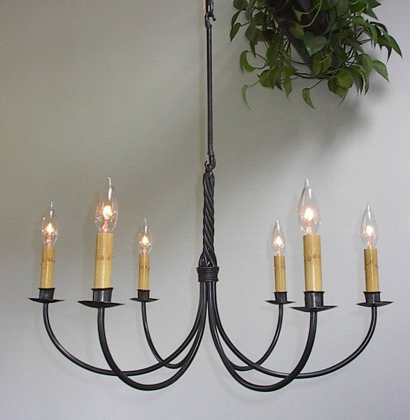 Wrought Iron Chandeliers Electric Six Arm Twisted 6600 270