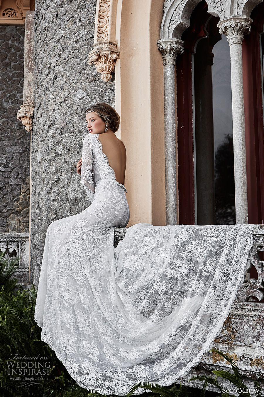869a20c24 solo merav 2017 bridal long sleeves bateau neckline full embellishment  elegant sheath wedding dress low back chapel train (victoria) bv