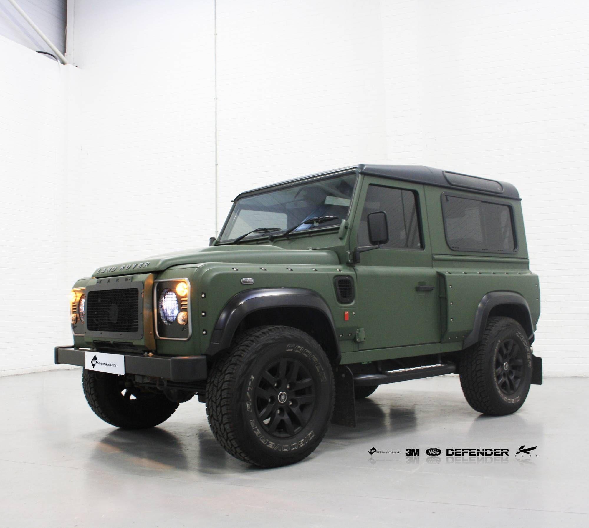 Project Kahn Defender 3m 1080 Matte Military Green Personal Vehicle Wrap Project Kahn Defender Land Rover Defender Defender