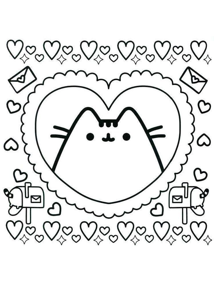 Pusheen Coloring Pages Hard The Following Is Our Collection Of Easy Pusheen Coloring Page You In 2020 Unicorn Coloring Pages Pusheen Coloring Pages Cat Coloring Page