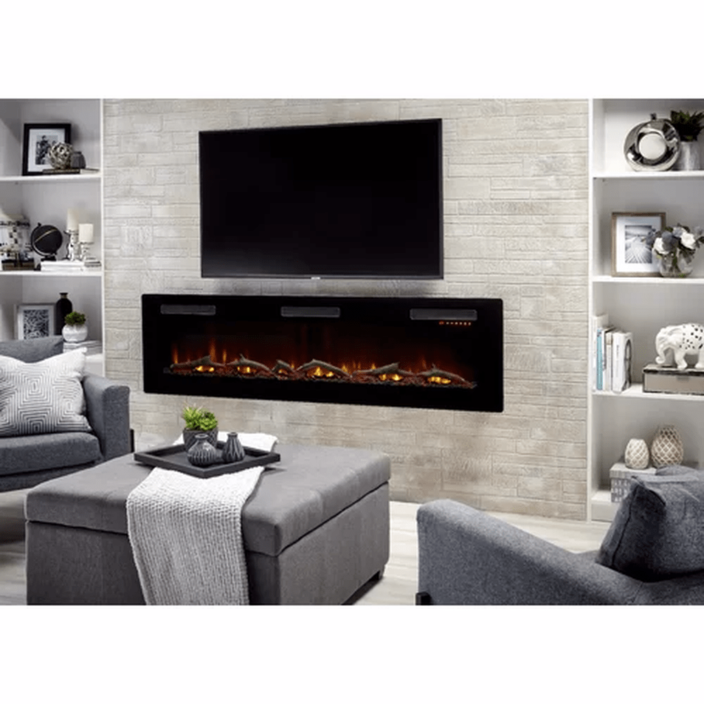 33 Stunning Modern Fireplace Design Ideas With Tv Above In 2020 Built In Electric Fireplace Wall Mount Electric Fireplace Fireplace Feature Wall