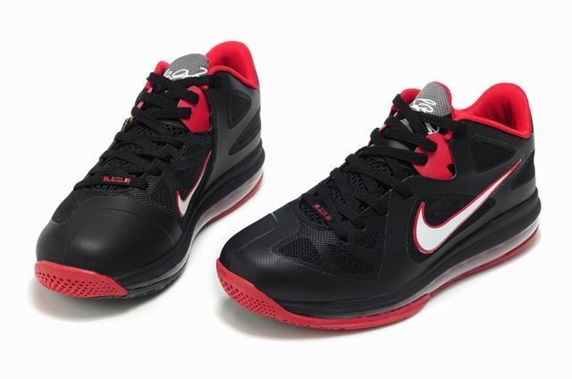 low priced f33c8 1f57a Lebron 9 Low Black White Red Nike Lebron, Zapatos Nike De Mujer, Mujeres  Nike