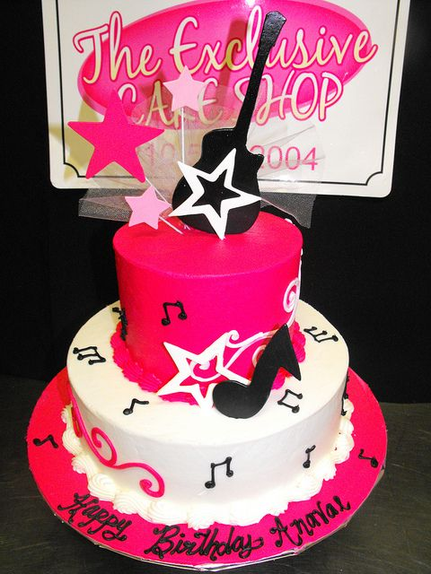 Rock Girl Birthday Cake Cakes Birthday Cake Girls Cake