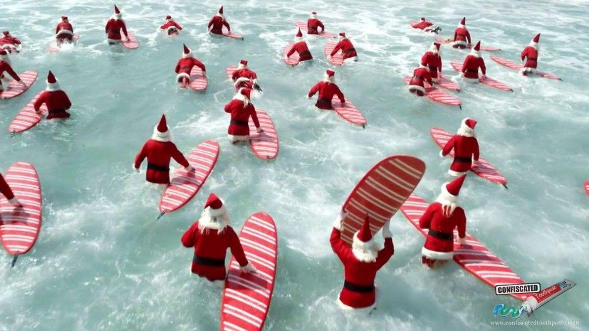 christmas in australia australian surfing santas. Black Bedroom Furniture Sets. Home Design Ideas
