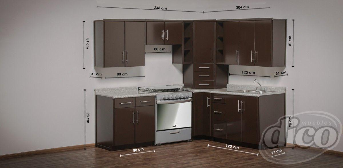 Verona cocina escuadra muebles villas del real for Cocinas integrales en escuadra