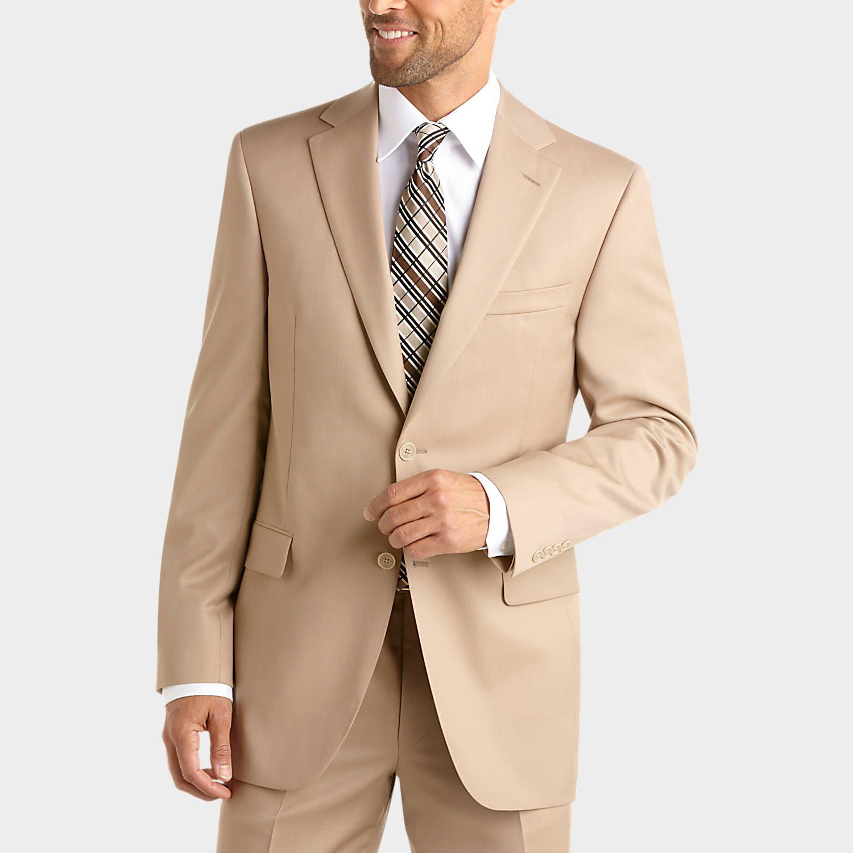 $800 BOGO. Jack Victor Select Tan Slim Fit Suit - Slim Fit | Men's ...