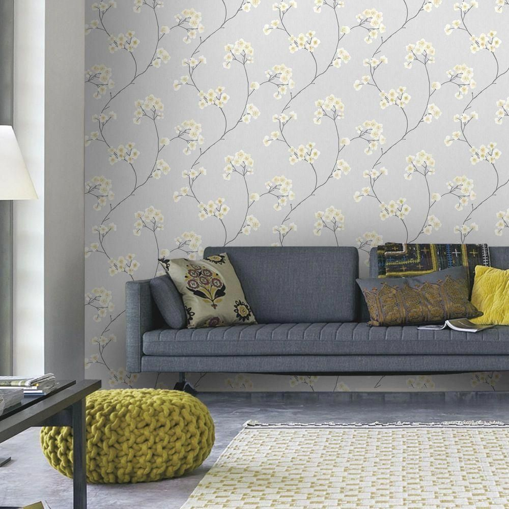 Graham Brown Grey And Ochre Radiance Removable Wallp