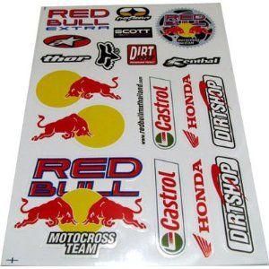 Honda Motocross Sponsor Decal Sticker Kit Dirt Bike Decor Sheet Bike Stickers Dirt Bike Room Bike Room
