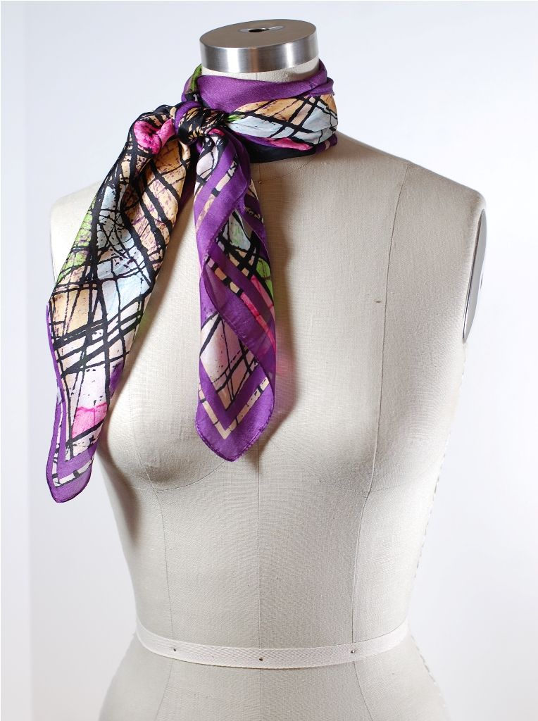How to Tie a Scarf Double Wrap French Knot Scarf knots