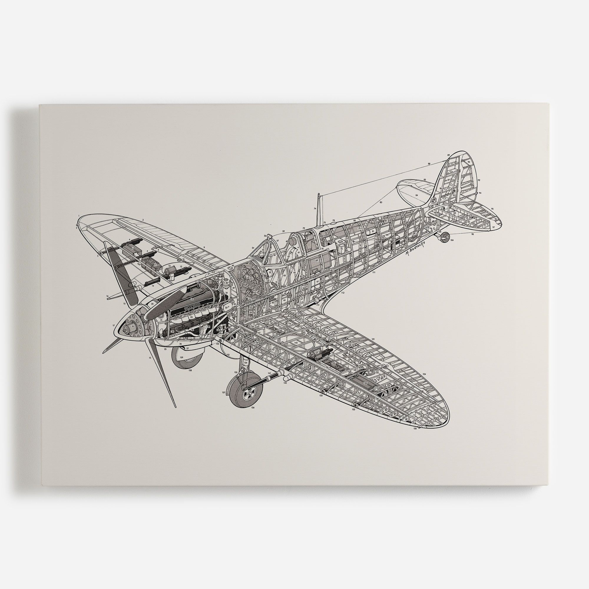 'White Spitfire' Canvas - Haynes Manuals Collection | Shop Canvases & Wall Murals at surfaceview.co.uk