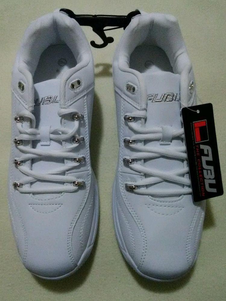 Fubu mens white tennis shoe sneaker sz
