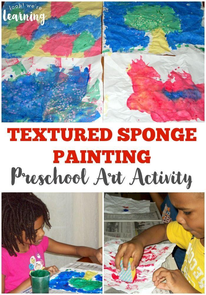 Sponge Painting Preschool Craft Look We Re Learning Preschool Art Activities Preschool Crafts Kids Art Projects