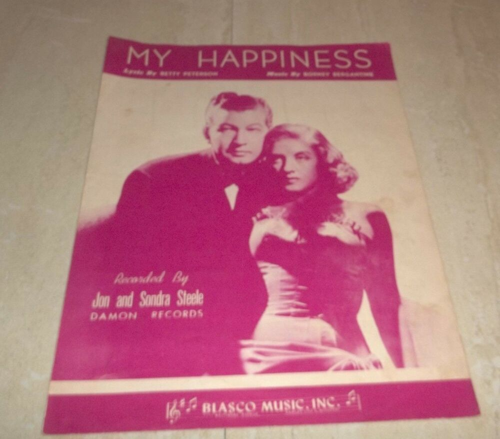Vintage Sheet Music! My Happiness by Peterson-Berganthine! Jon & Sondra Steele #vintagesheetmusic Vintage Sheet Music! My Happiness by Peterson-Berganthine! Jon & Sondra Steele #vintagesheetmusic