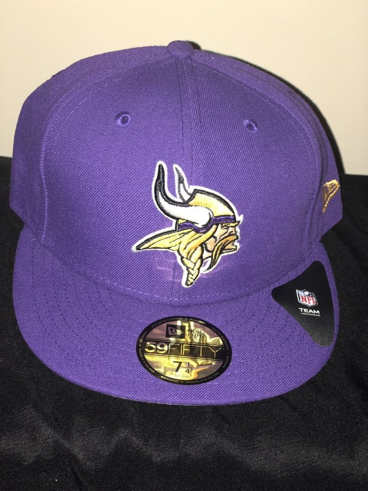 2c7035048 New Era 5950 MINNESOTA VIKINGS 2 Tone Team Cap NFL Fitted Hat 2Tone 59Fifty   fashion  clothing  shoes  accessories  mensaccessories  hats (ebay link)