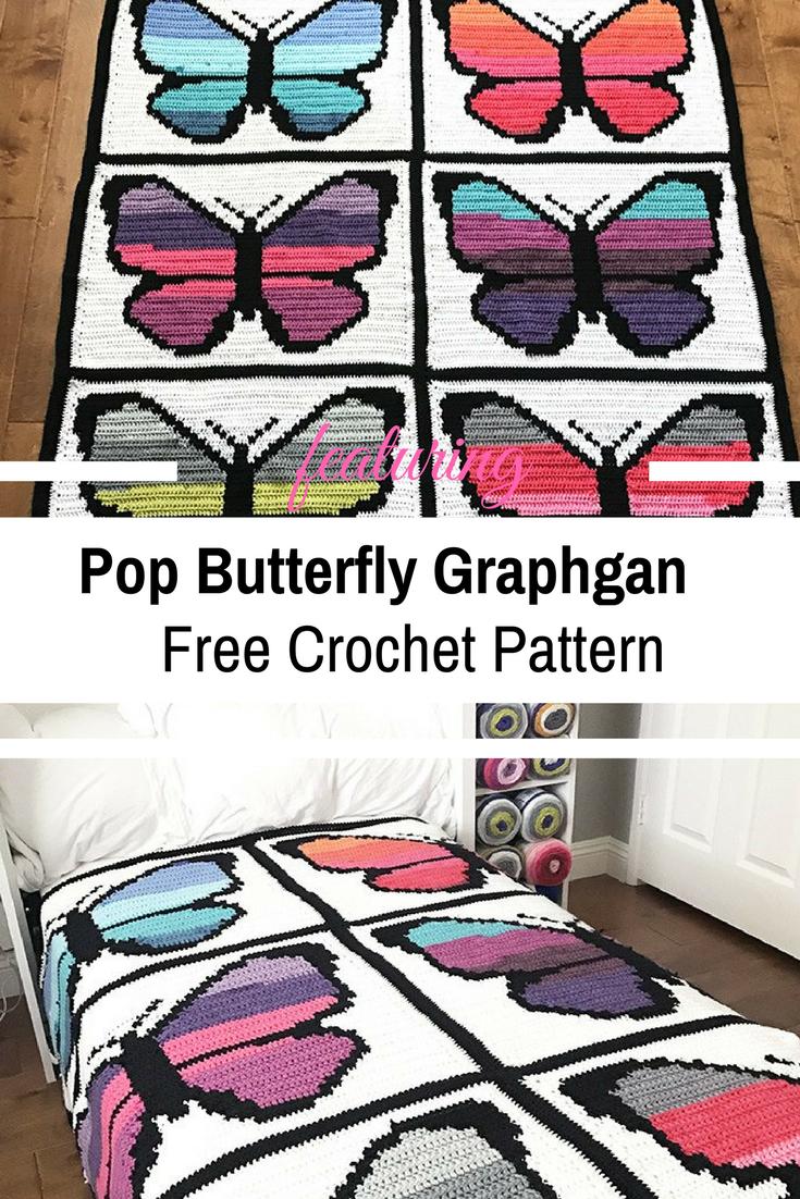 Clever Cake Butterfly Crochet Graphgan – Free Pattern | Crochet ...