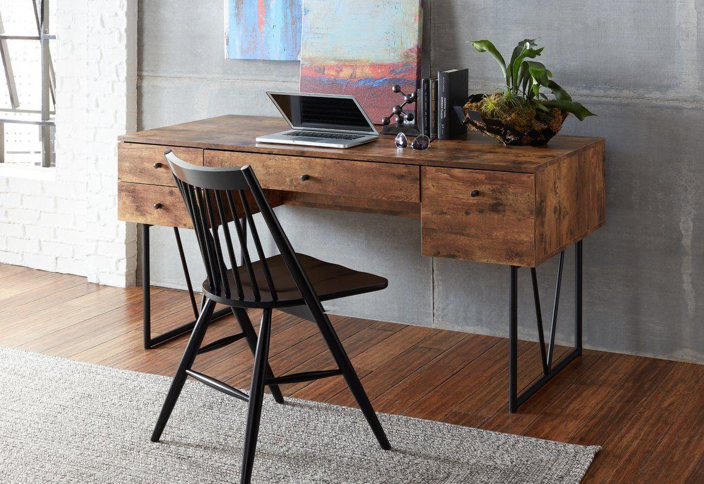 Granite 4 Drawer Solid Wood Writing Desk Reviews Allmodern