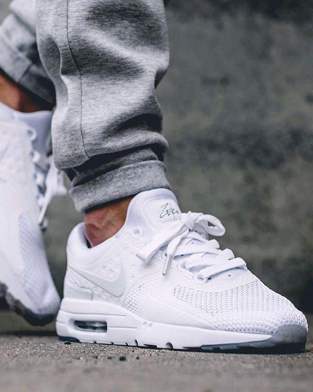 Nike Airmax Zero x Triple White | White sneakers nike