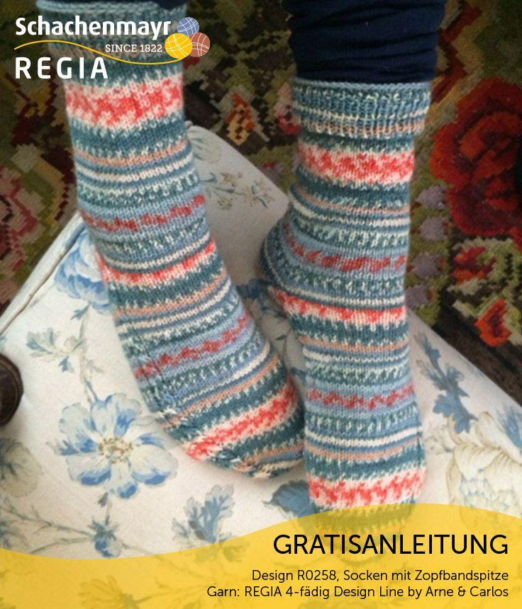 Gratisanleitung: Socken mit Zopfbandspitze - Man nehme ein ...
