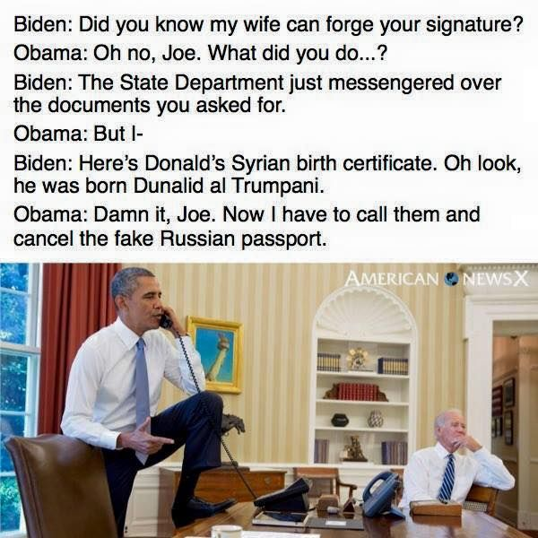 Obama Biden Trump Birth Certificate