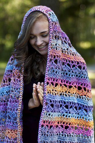 This Crocheted Prayer Shawl Is A Free Pattern Crochet Shawls
