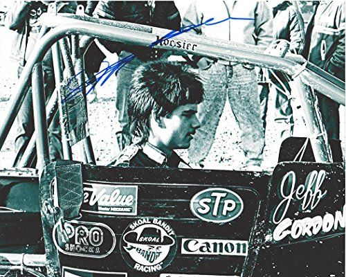 nice AUTOGRAPHED Jeff Gordon #24 Skoal Bandit Racing (Midget Sprint Car) Vintage Black & White 8X10 Signed Picture NASCAR Glossy Photo with COA