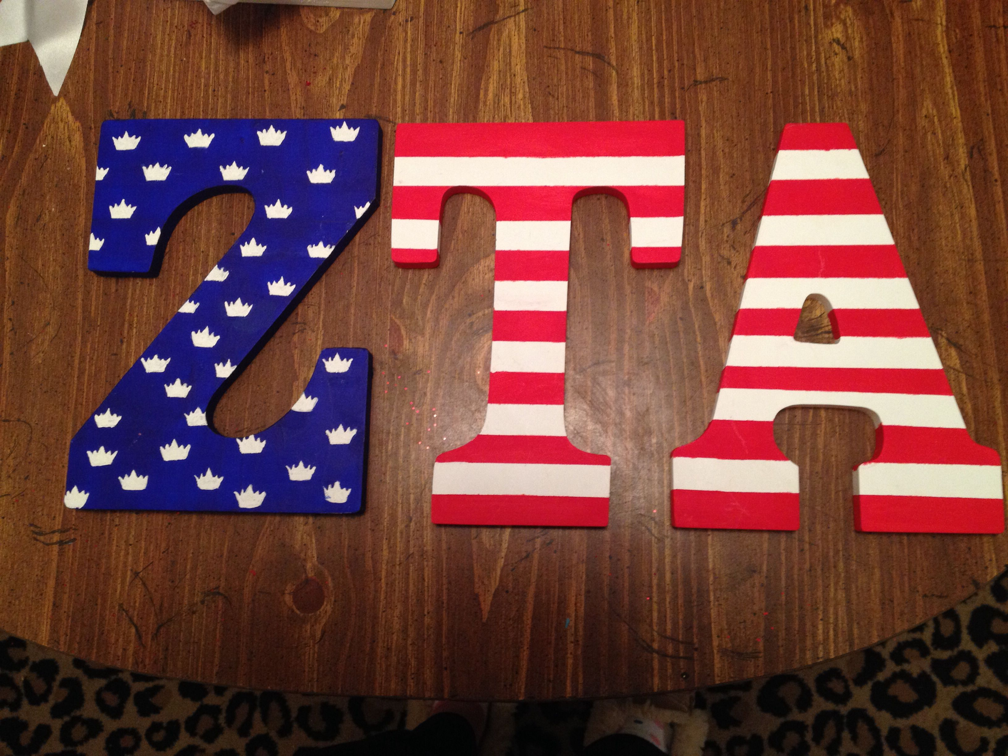 zta wooden letters big little craft for initiation zeta With zeta tau alpha wooden letters