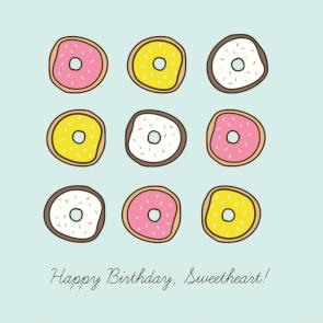 Donut Birthday Doughnut Stationery Birthday Collection: Donut Stationery Pink Doughnut Stationery Card Donut Cards Donut Birthday Card