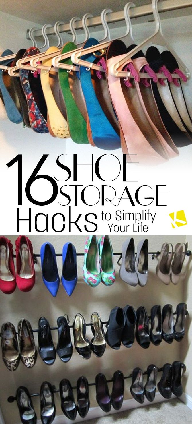 16 Shoe Storage Hacks To Simplify Your Life Shoe Storage
