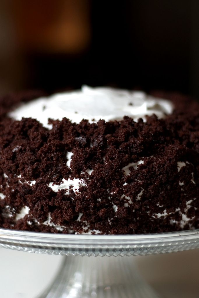 Dorie Greenspan's Devil's Food White Out Cake. Picture by #providencehandmade.