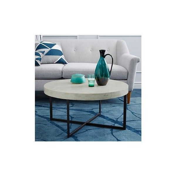 West Elm Bone Coffee Table White Accent Tables Side