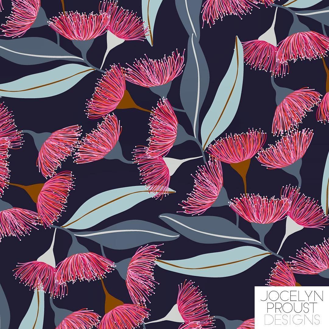 Jocelyn Proust Jos Proust On Instagram Another In My Australiannative Series This One S A Gu Flower Pattern Design Surface Pattern Design Pattern Design