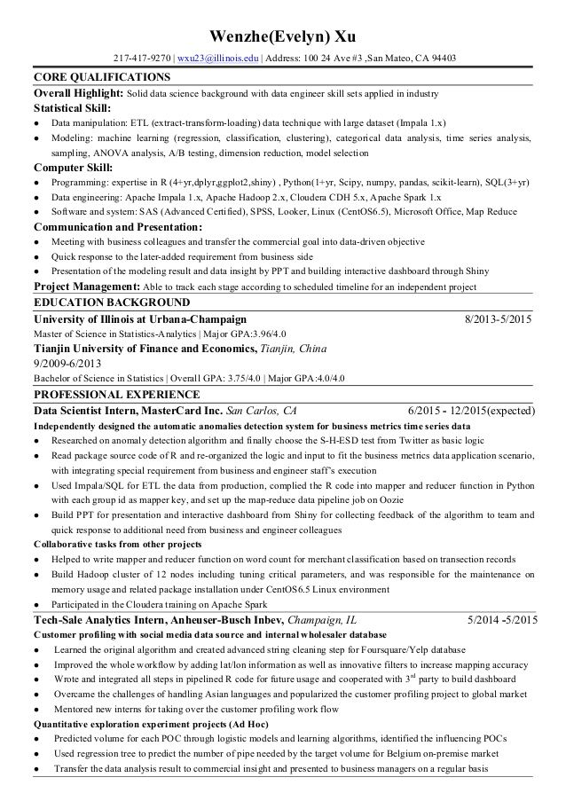 Data Scientist Resume Sample Data Science Rez Example  Worklife  Pinterest  Data Science