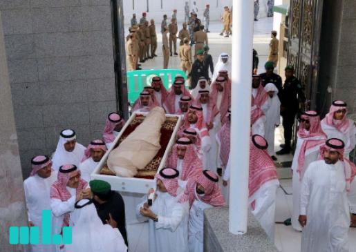 شاهد جنازة الأمير خالد بن عبدالله بن عبدالعزيز بن مساعد في الحرم المكي