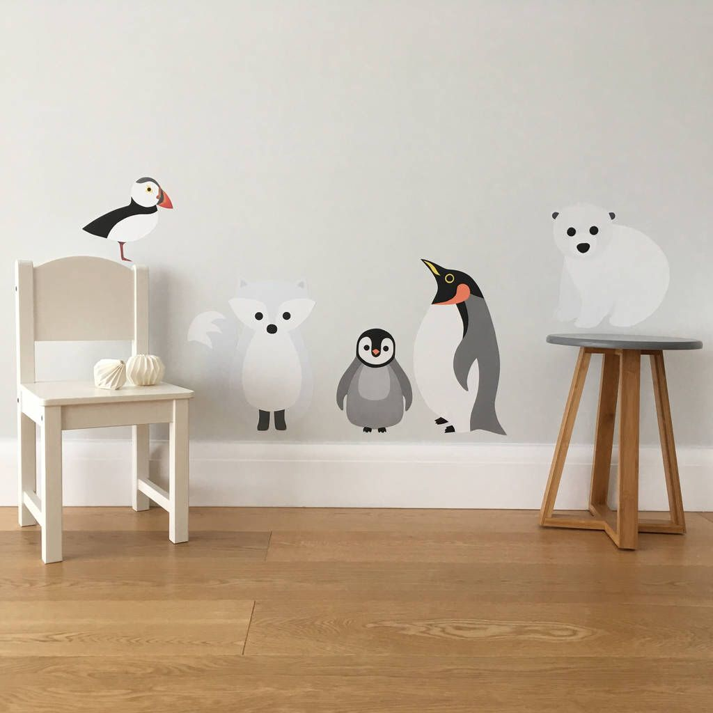 I've just found Arctic Animals Wall Sticker Set. Our
