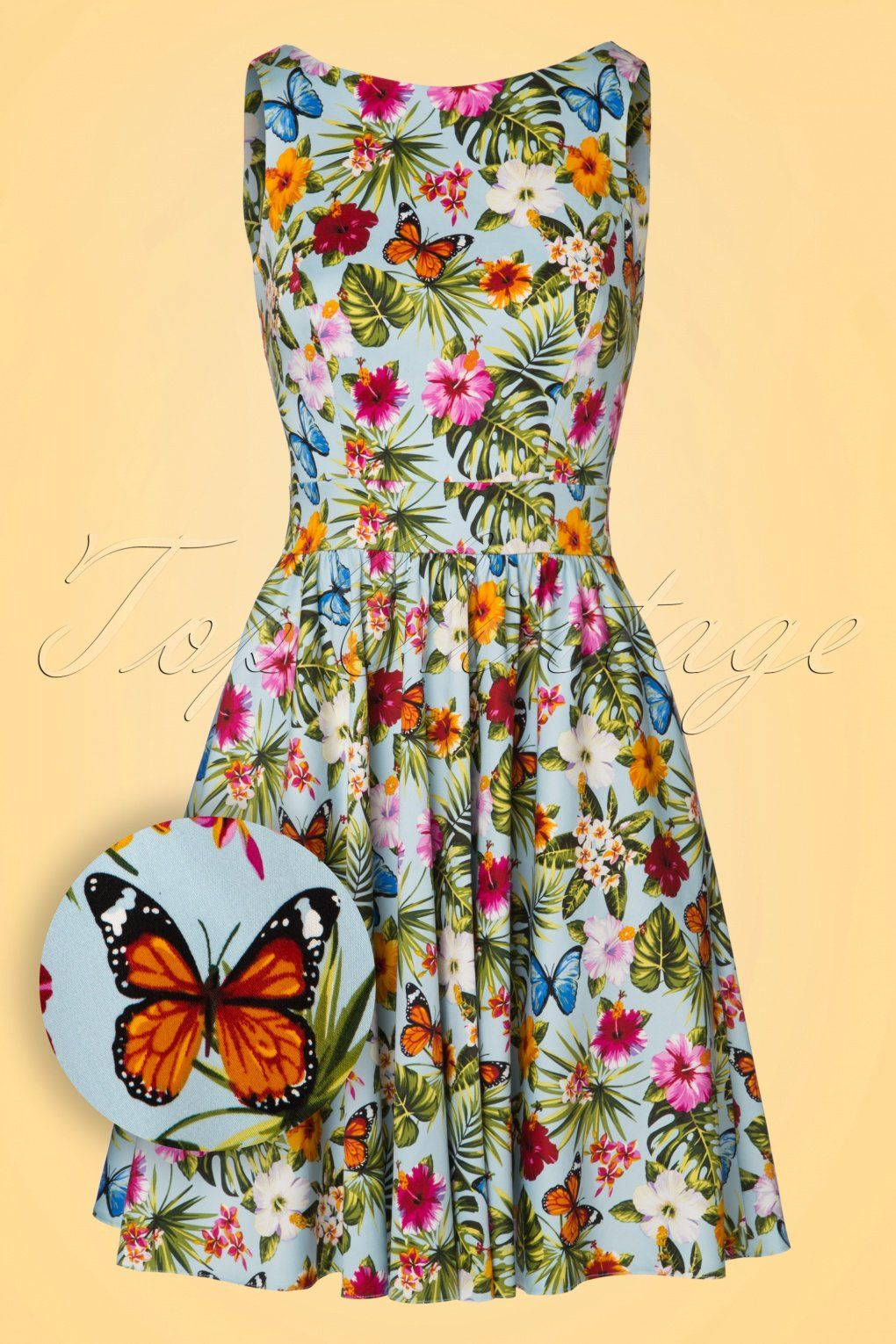 f45bcb1fed73 This 50s Tea Summer Floral Swing Dress is everything a woman could wish  for! Summer is coming, you're totally ready with this beauty!