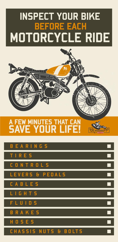 Motorcycle Maintenance Check Pre Ride Bike Check Bike Riding Motorcycle News