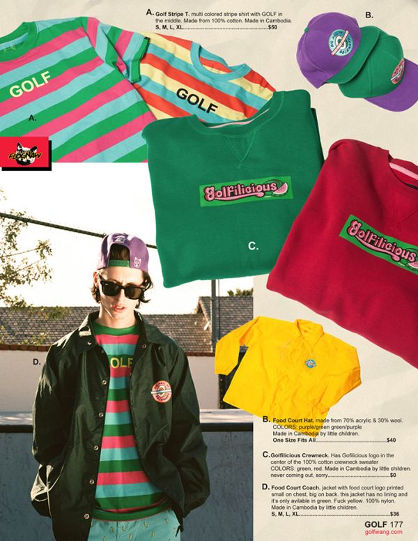 5684c64bf4e5 Golf Wang Spring Summer 2014 Lookbook