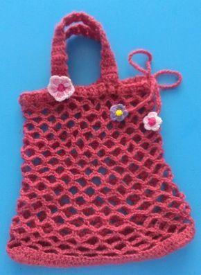 Anfänger Kinder Einkaufstasche Häkeln Körbe Und Netze Pinterest