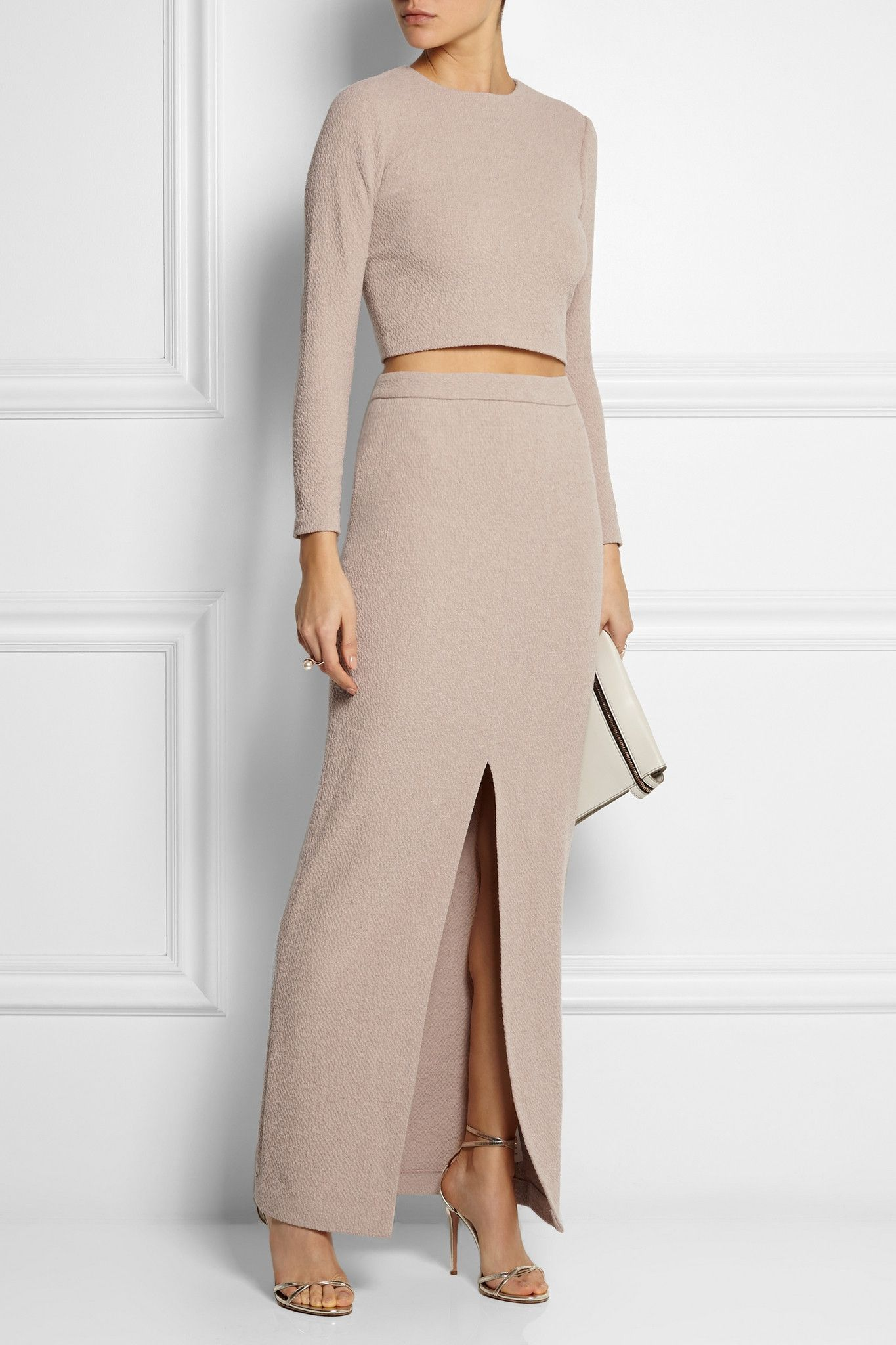 ALICE + OLIVIA Abby stretch-cloqué maxi skirt €255 http://www.net-a-porter.com/products/502997