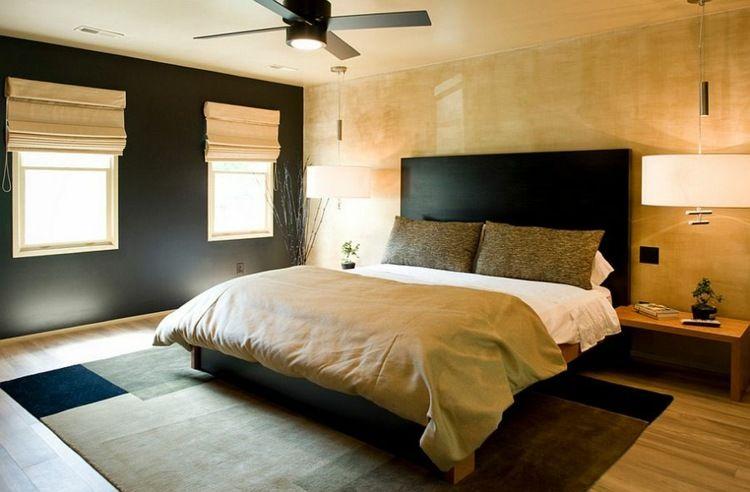 Chambre A Coucher Dcoree En Noir Et Dore Deco Chambre Noire