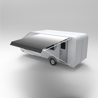 Aleko 21 Ft W X 8 Ft D Retractable Patio Awning Color Gray Fade Retractable Awning Patio Canopy Rv Awning Fabric