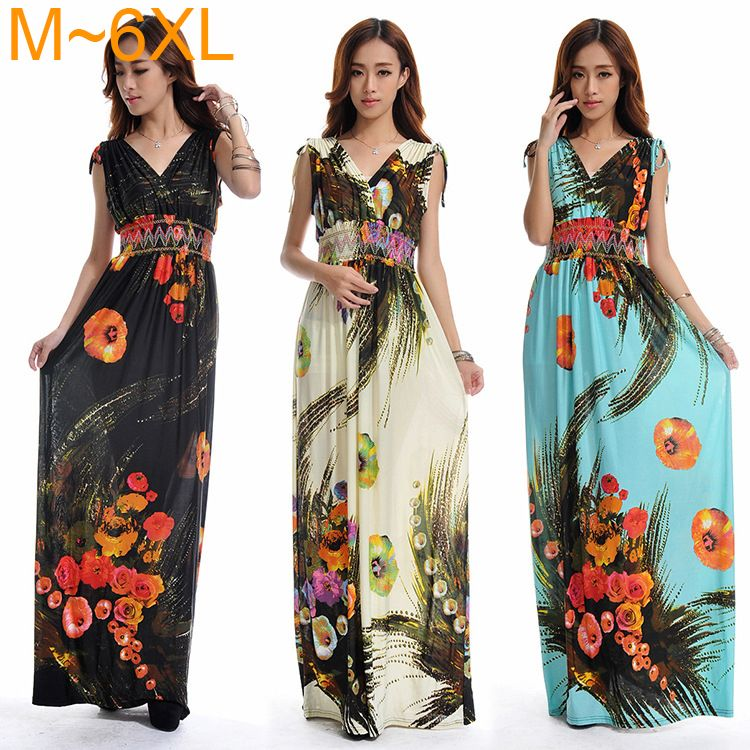 click to buy << sexy deep v neck maxi dresses summer cool womens