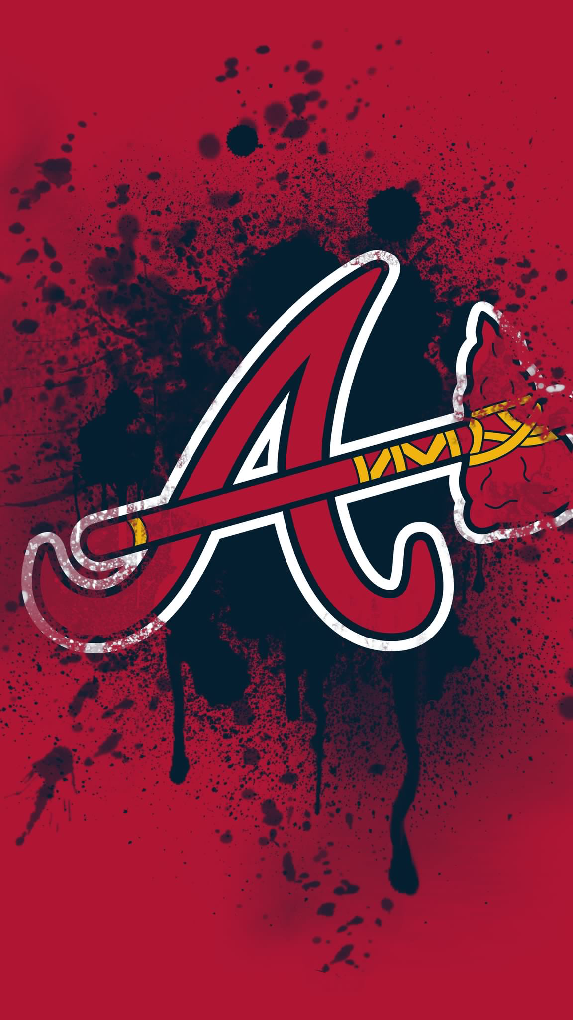 Pin By Michael Lewis On Atlanta Braves Atlanta Braves Wallpaper Atlanta Braves Logo Atlanta Braves