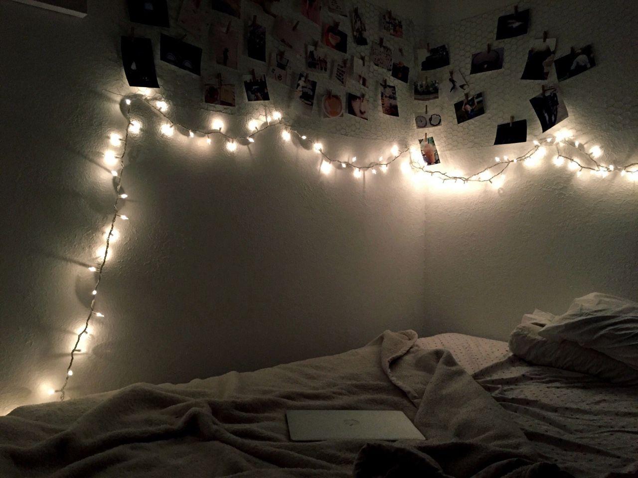 My Bedroom Is So Tumblr Photo Wall Wall Lights Wall