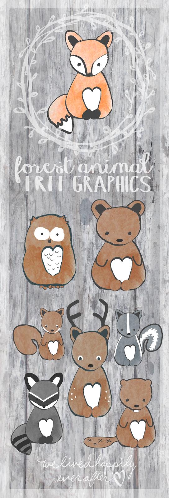 Kinderzimmer wanddekor free forest animal clip art graphics we lived happily ever after